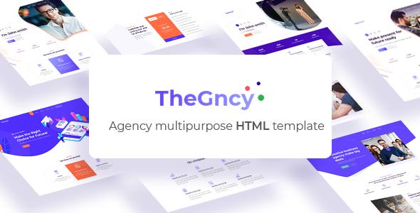 TheGncy v1.0 – Multipurpose Agency HTML Template