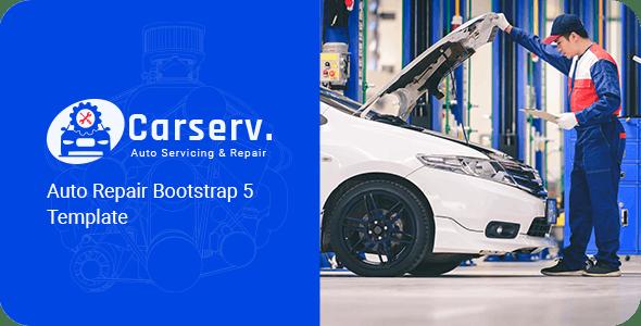CARSERV V1.0 – AUTO REPAIR BOOTSTRAP 5 TEMPLATE